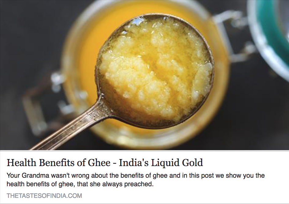 Health Benefits of Ghee – India's Liquid Gold