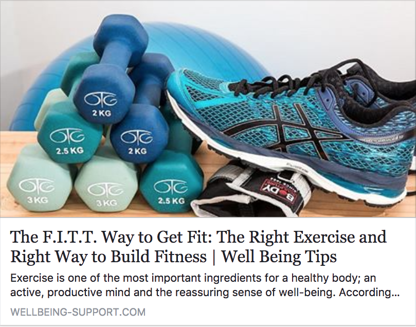 The F.I.T.T. Way to Get Fit