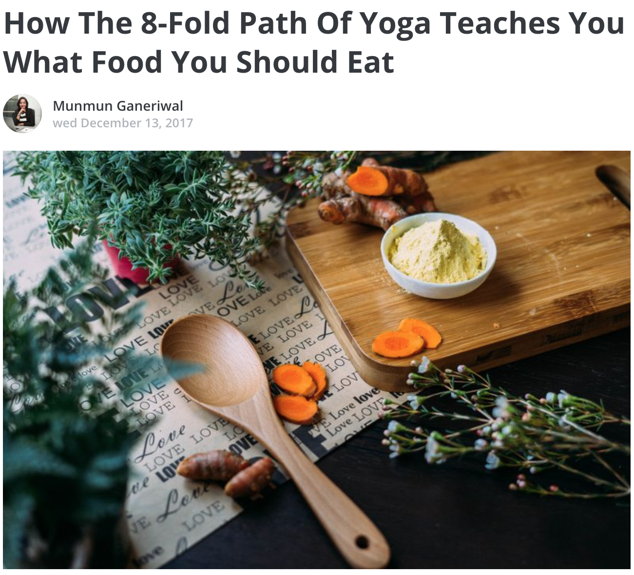 How The 8-Fold Path Of Yoga Teaches You What Food You Should Eat