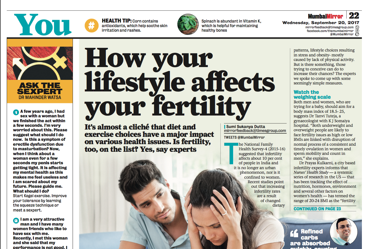 How Your Lifestyle Affects Your Fertility