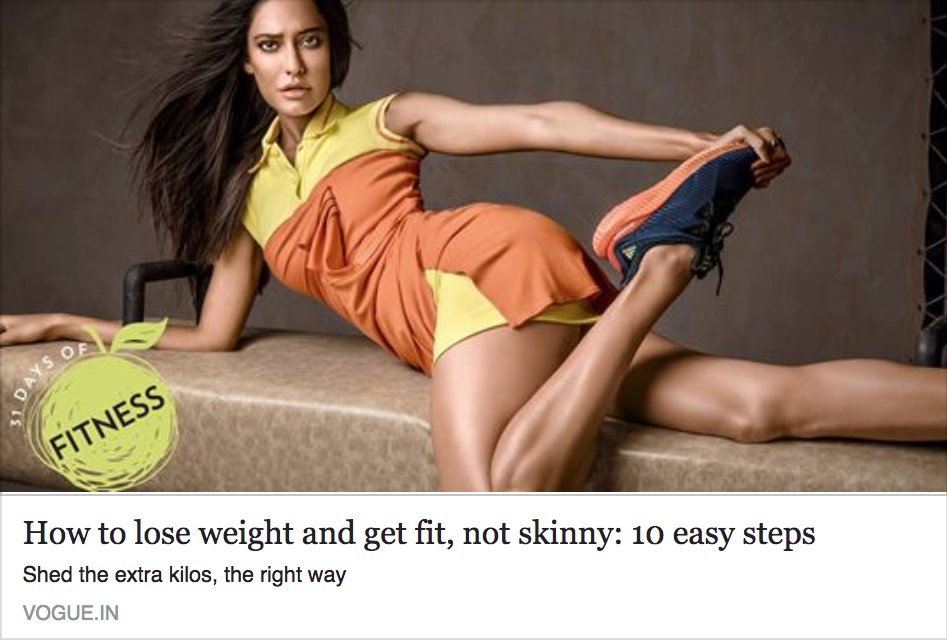 How to lose weight and get fit, not skinny: 10 easy steps