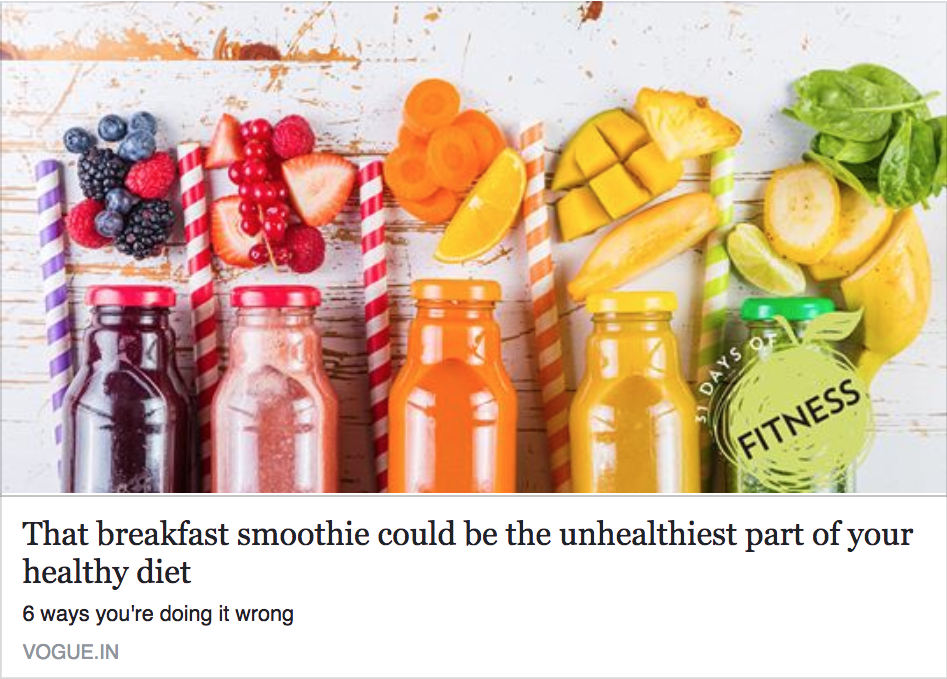 That breakfast smoothie could be the unhealthiest part of your healthy diet